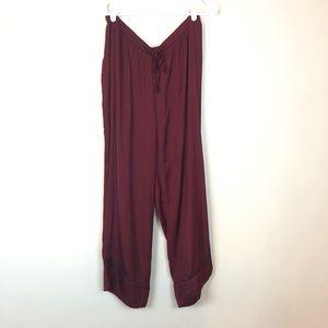Love by Gap Silky Maroon Pajama Pants Navy NWT L
